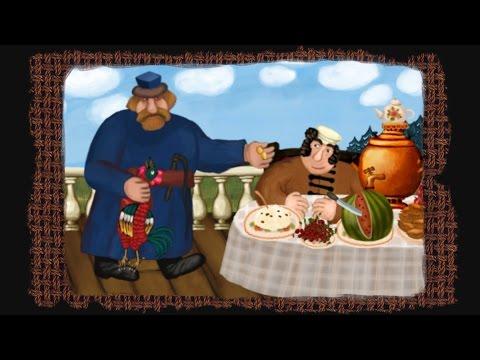 Гора самоцветов - Большой петух (The Giant Rooster) Русская сказка