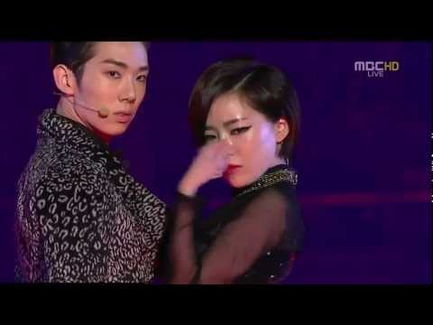 111231 Ga In & Jo Kwon  - Trouble Maker @ MBC Music Festival (HD)
