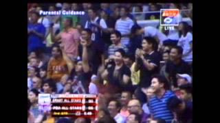 Kobe Bryant to Derrick Rose, nice alley-oop/assist! (SMART All Stars vs PBA All Stars 2011)