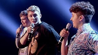 James, James and Curtis' performance - The Fray's How To Save A Life - The X Factor UK 2012