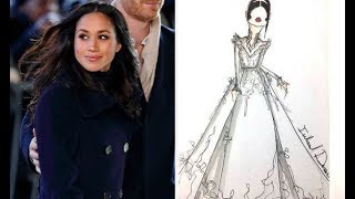 Is this Meghan Markle wedding dress? Sketches emerge of figure-hugging gown