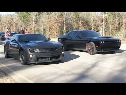 Hellcat Vs Camaro Zl1 Dig Racing Youtube