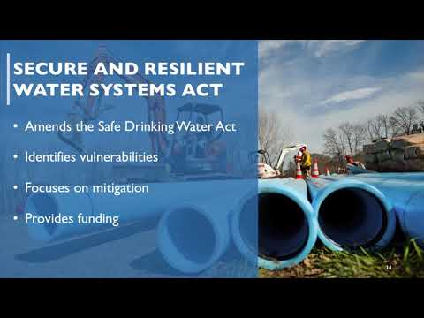 Advancing U.S. Drinking Water Security, and Resiliency