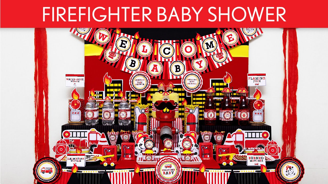 FireFighter Baby Shower Party Ideas // FireFighter - S39 - YouTube
