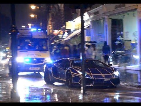 TRON Lamborghini Aventador BUSTED by Police!