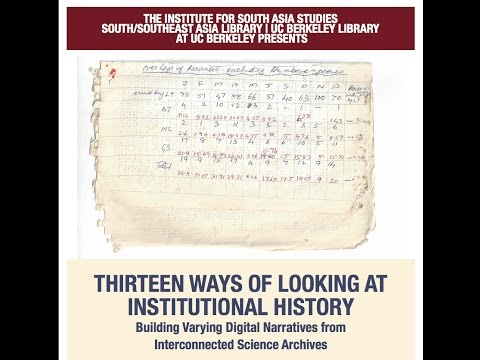 Thirteen Ways of Looking at Institutional History