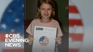 """Virginia county's """"I voted"""" sticker designed by 9-year-old girl"""