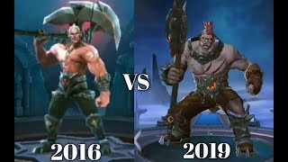 ALL MOBILE LEGENDS HEROES | 2016 VS 2019 |