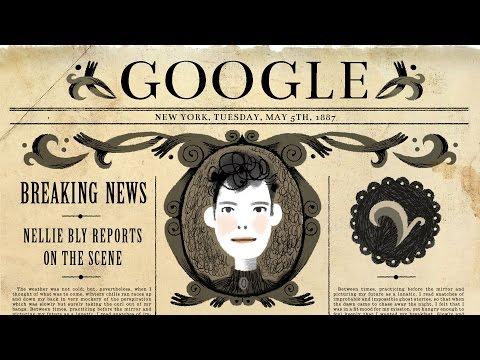 Nellie Bly's 151st Birthday Google Doodle