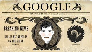 Nellie Bly's 151st Birthday Google Doodle thumbnail