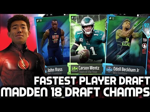 FASTEST PLAYER DRAFT! WILL SPEED WIN!? Madden 18 Draft Champions