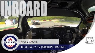 Toyota 92 CV Group C inboard at Spa-Francorchamps