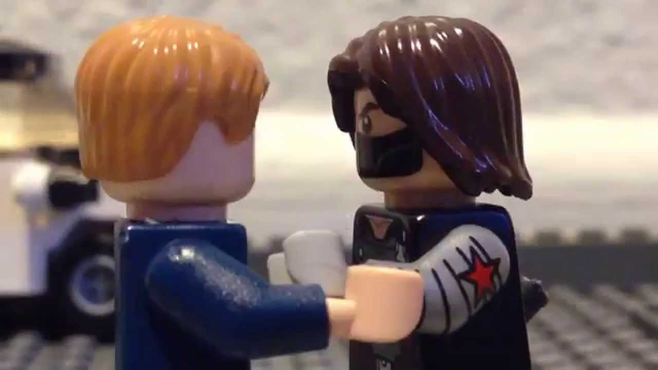 Lego Captain America The Winter Soldier Captain America Vs Winter Soldier Stopmotion Recreation