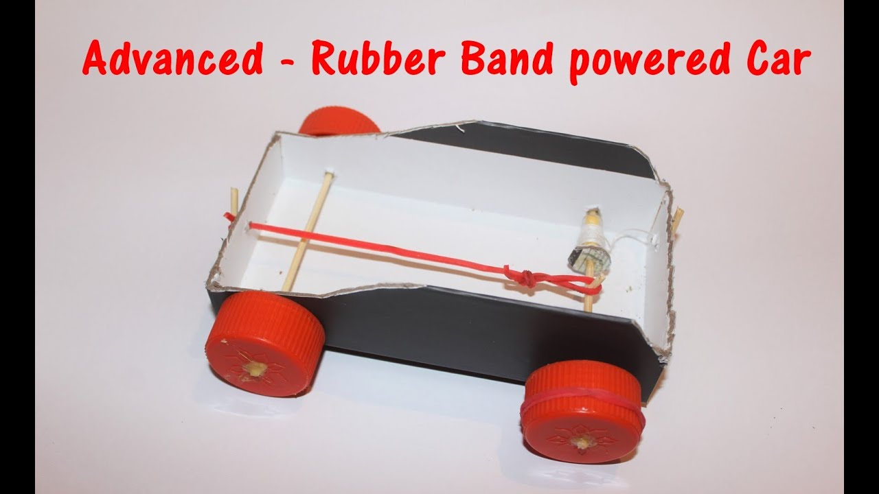 How to Make a Thread and Rubber Band Powered Car - ADVANCED ...