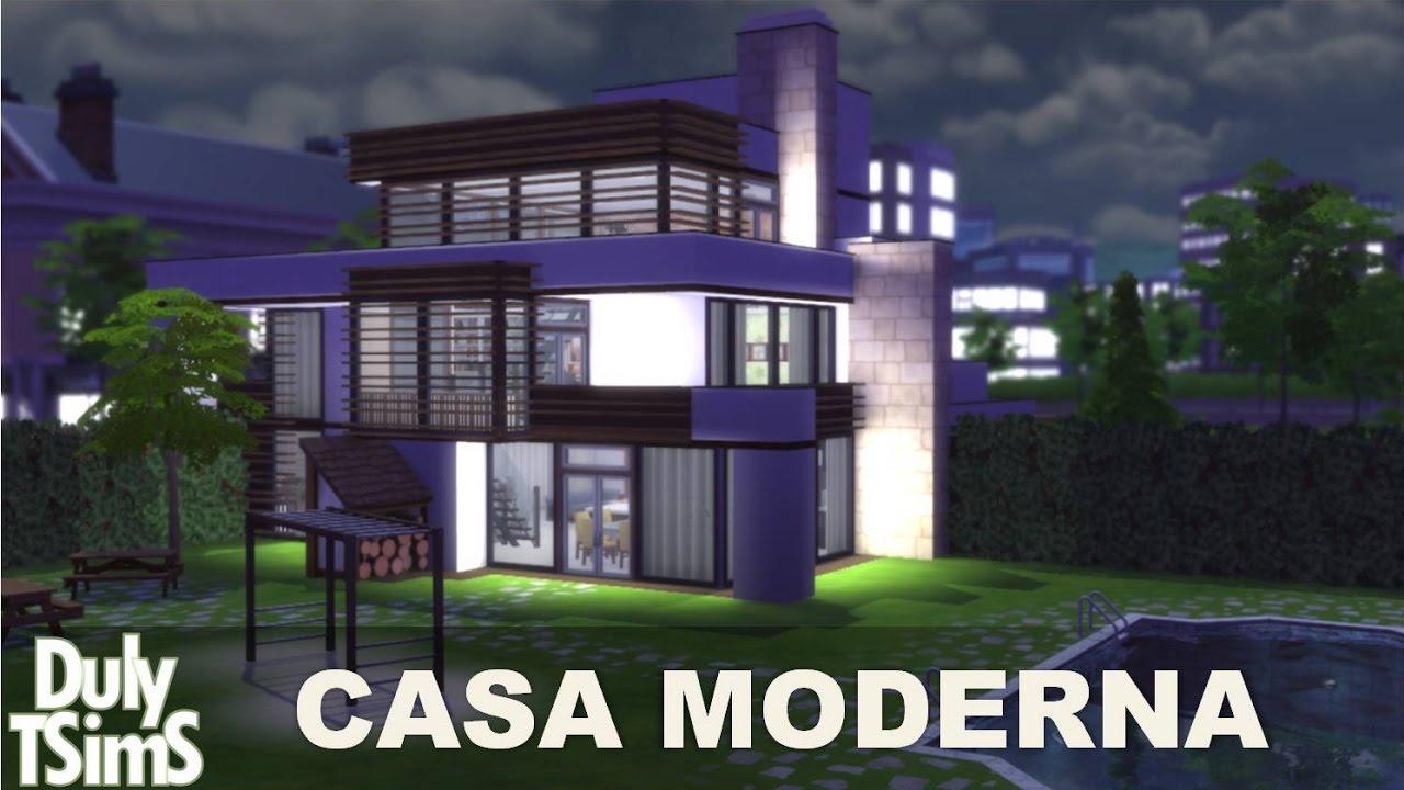Casa grande e moderna the sims 4 youtube for Sims 4 modelli di casa moderna