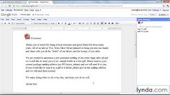 How to collaborate and edit in Google Docs | lynda.com tutorial