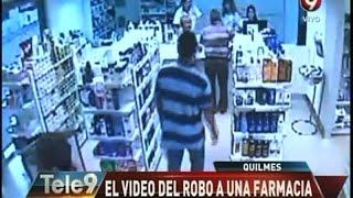 Quilmes: El video del robo a una farmacia