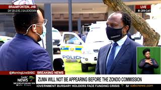 Zuma will not appear before the Zondo Commission: Lawyers