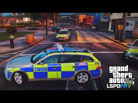 GTA 5 LSPDFR - TRAFFIC POLICING PATROL - The British way #101