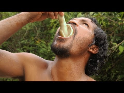 Primitive Technology: A Forest man Find Nature Fresh Mushroom And Cooking - How to Find Mushroom