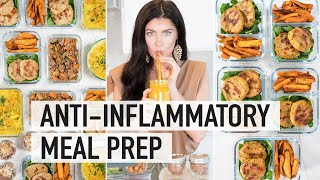 5 DAY ANTIINFLAMMATORY MEAL PREP | AntiInflammatory Foods to Reduce Bloating & Inflammation