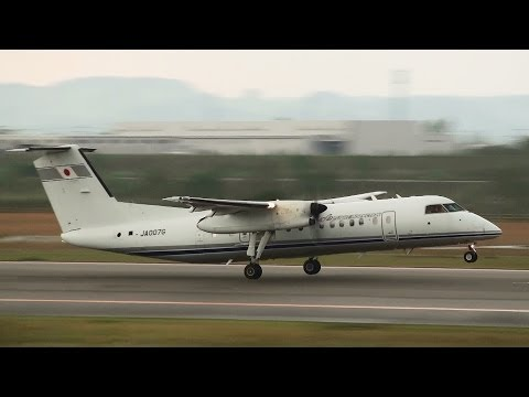 [Flight Inspection Aircraft] JCAB DHC-8-300 JA007G TAKE-OFF TOYAMA Airport 富山空港 2013.10.30