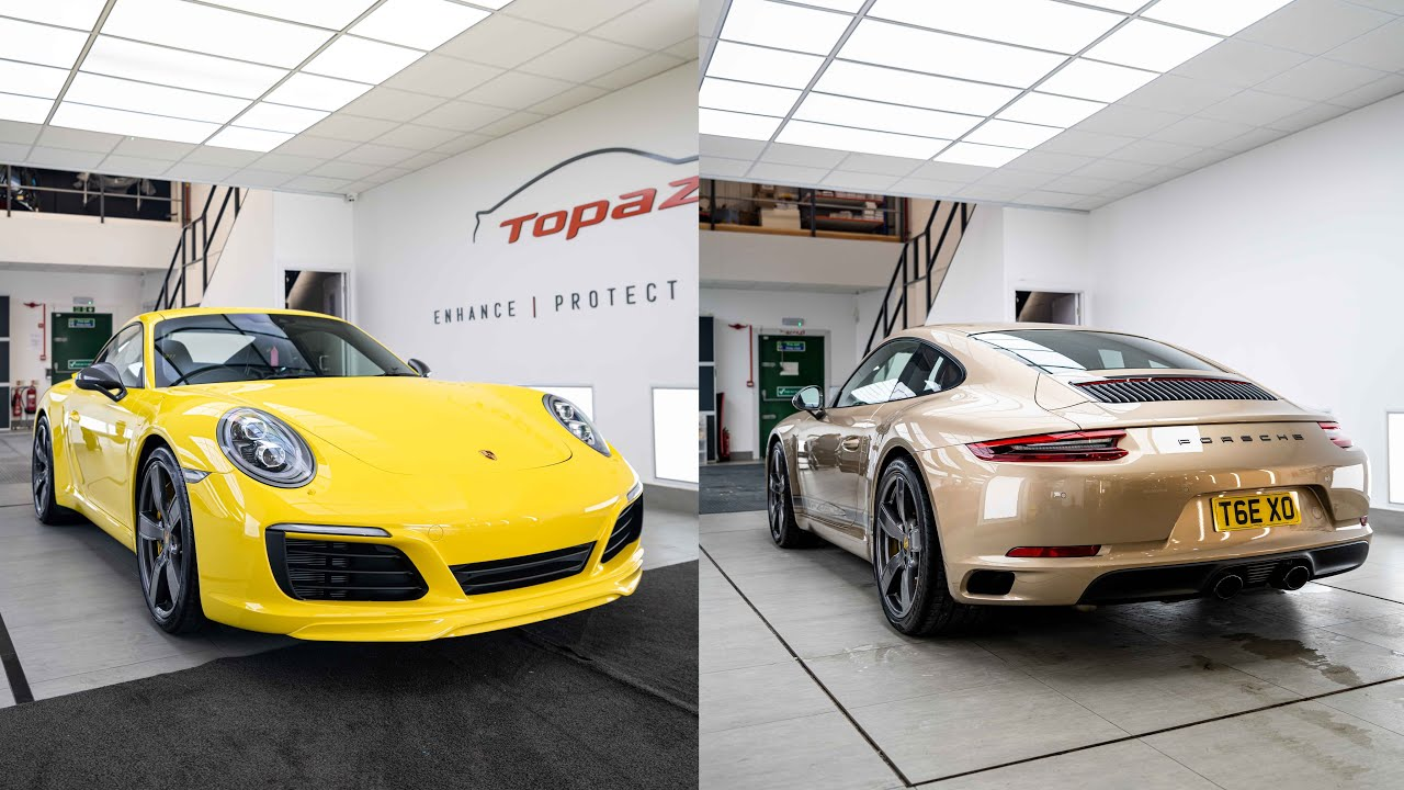 Gold TopazSkin Peelable Paint Transformation on Porsche 991