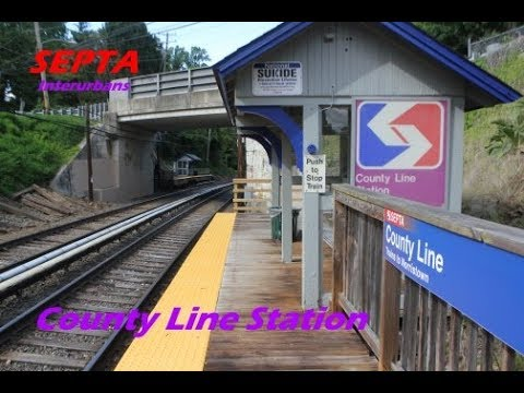 TVS-SEPTA Interurbans: County Line Station At Peak Hour