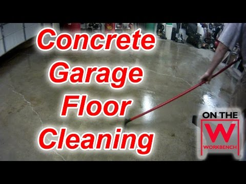 cleaning-&-degreasing-a-concrete-garage-floor