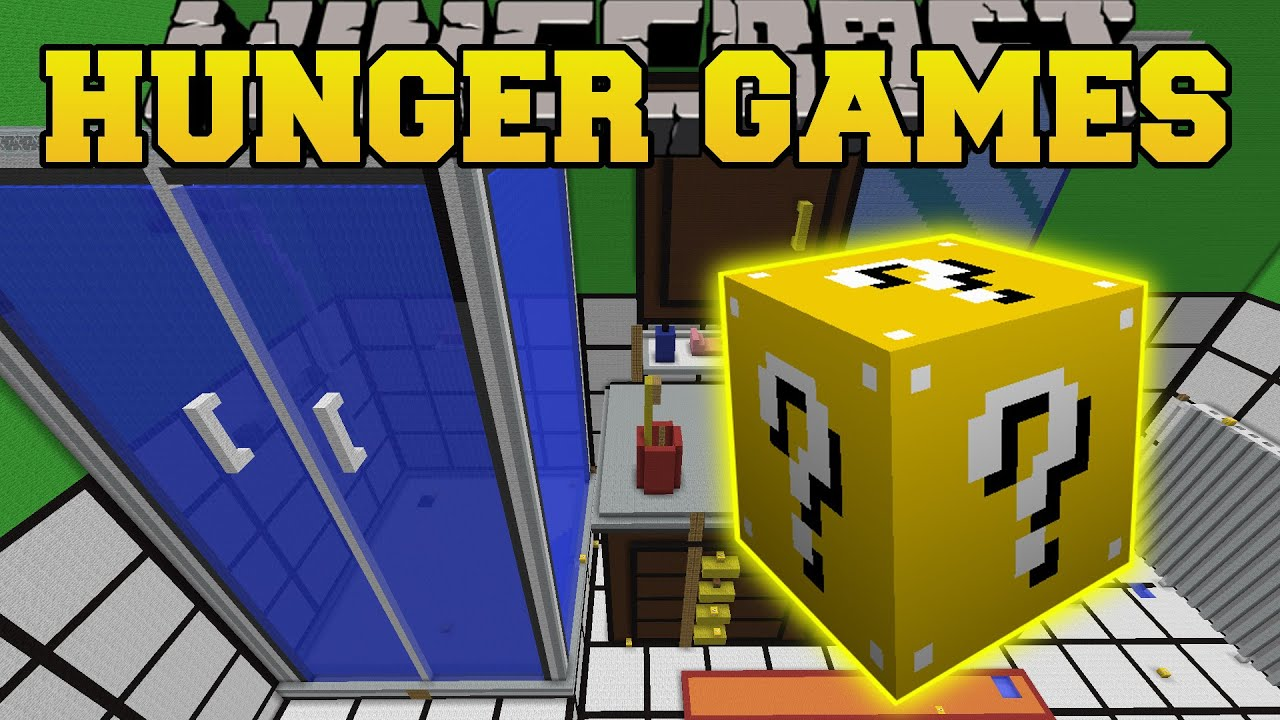 Minecraft THE DROPPER BATHROOM HUNGER GAMES Lucky Block Mod Modded Mini Game YouTube