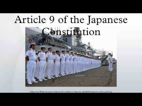 Article 9 Japanese Constitution