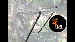 Climbing Treestand Stabilizer Straps Review. BK Outdoors