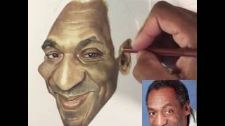 How to draw Bill Cosby timelapse