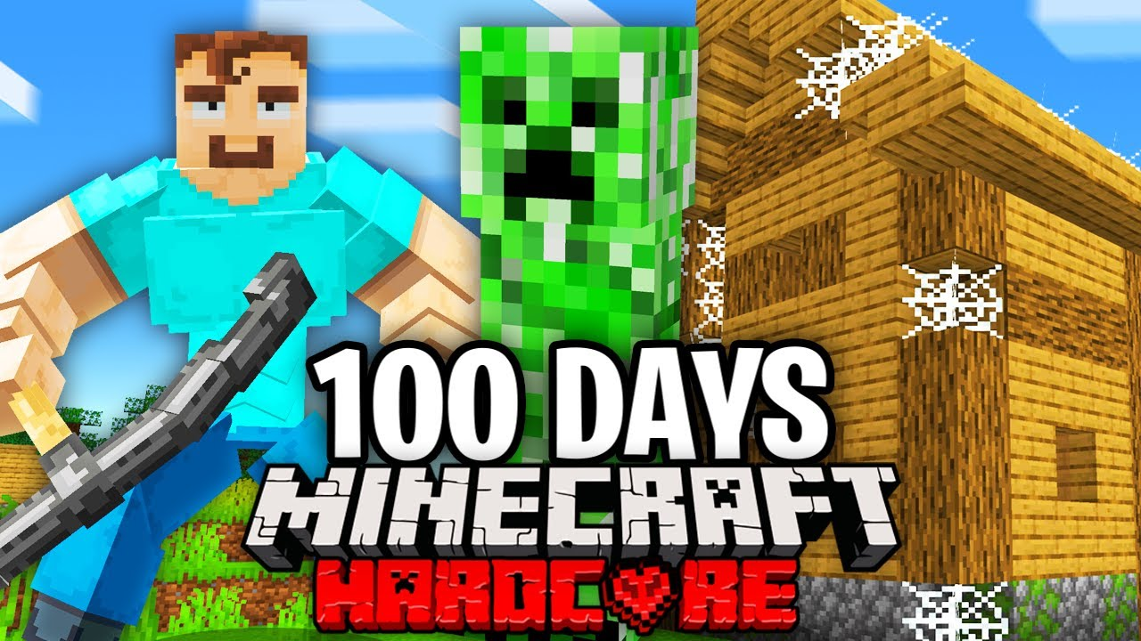 I Survived 100 Days as a CREEPER in Hardcore Minecraft.. Here's What Happened..