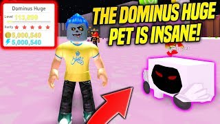 He TRADED ME THE DOMINUS HUGE PET IN PET SIMULATOR!! *RAREST TIER 17 PET* (Roblox)