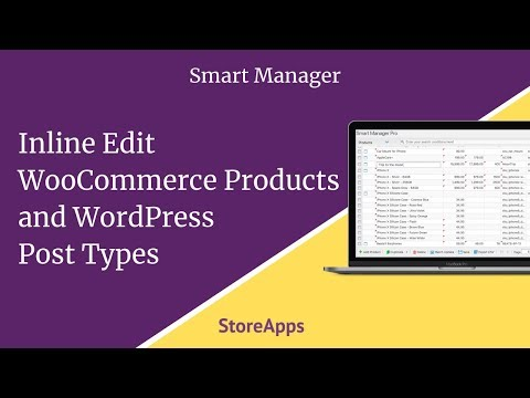 Inline Edit WooCommerce Products and WordPress Post Types - Smart Manager thumbnail