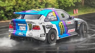 "Ken Block hooning in his Ford Escort ""Cossie V2"" at Goodwood FoS 2019!"