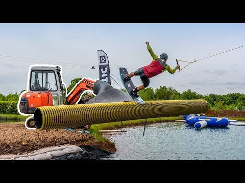 Insane Wakeboard Rail - We used a digger!