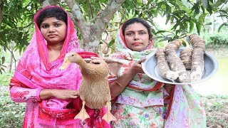 Village Cooking - Duck Curry Recipe | Bengali Cooking Kochu and Duck Recipe | Duck Curry Prepared