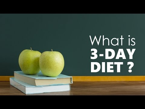 What is 3-Day Diet Plan and How It Works?