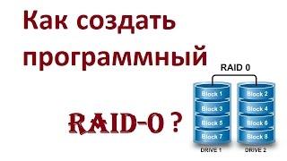 как создать программный Raid-0 (Чередующийся) массив на Windows 10