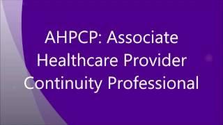 DRI's AHPCP Certification