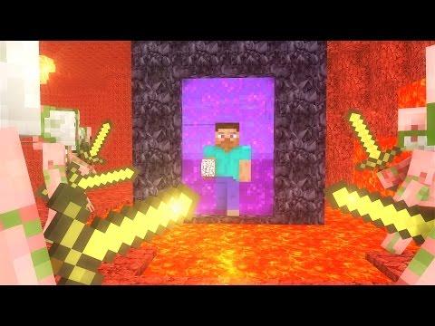 Zombie Pigman Life  - Minecraft animation - Видео из Майнкрафт (Minecraft)