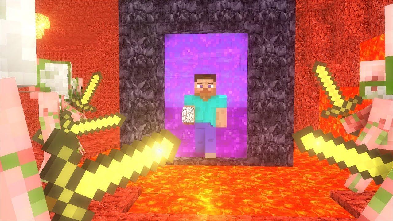 Zombie Pigman Life - Minecraft animation - YouTube