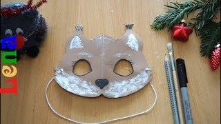 Eichhörnchen Maske basteln