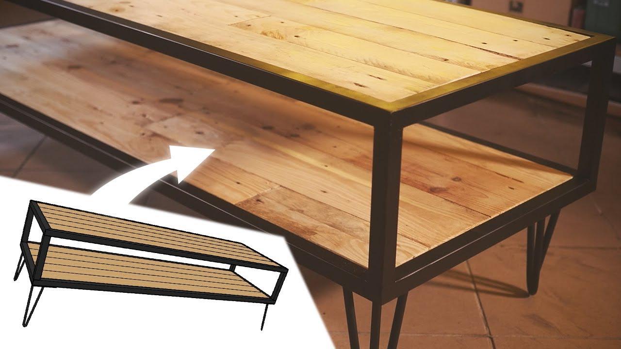 fabrication d un meuble tv bois metal