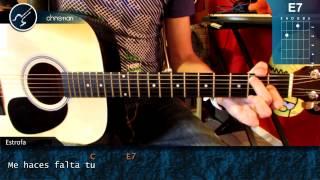 """Cómo tocar """"Si No te Hubieras Ido"""" de Marco Antonio Solis en Guitarra Acústica (HD) - Christianvib"""