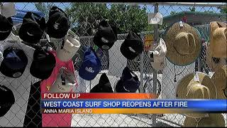 Video: Surf Shop Reopens After Fire