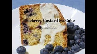 Blueberry  Custard Tea Cake