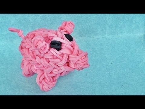 Rainbow Loom Charms 3d Piggy Bank Fun Loom Bands Crazy Loom